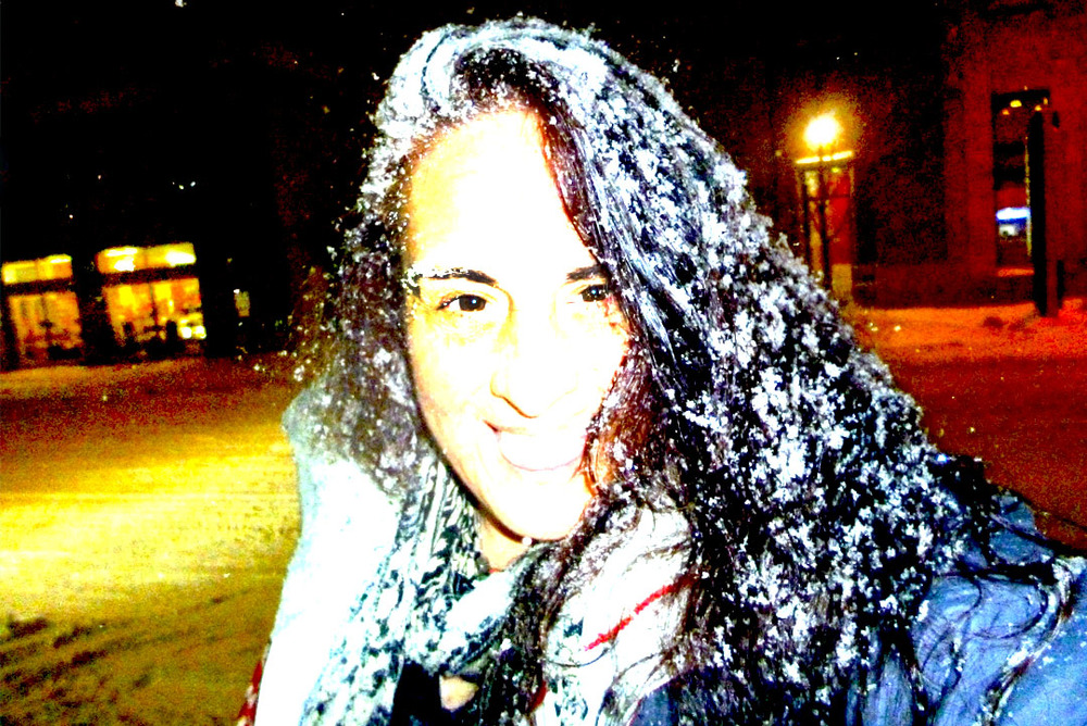 Walking home in a snow storm with frozen hair - Montreal 2014