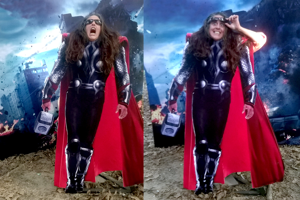 GAARAAAHHHHH!                          What you think of my Thor impersonation?
