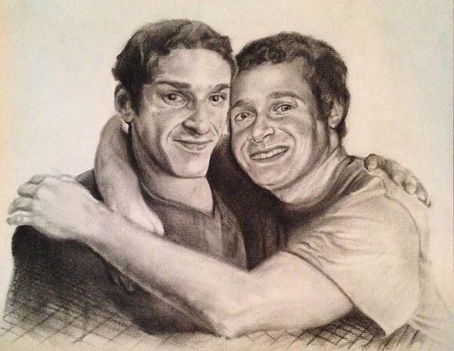 #drawing #portrait #art #artwork #charcoal #pencil #brothers #smiling  Rest in piece Danny