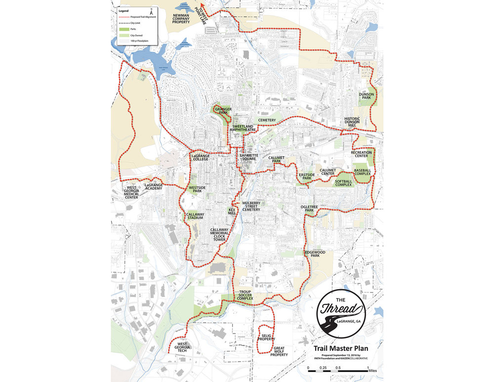 The Thread Trail master plan suggests 29 miles of greenway trails to reconnect the city on a human scale.