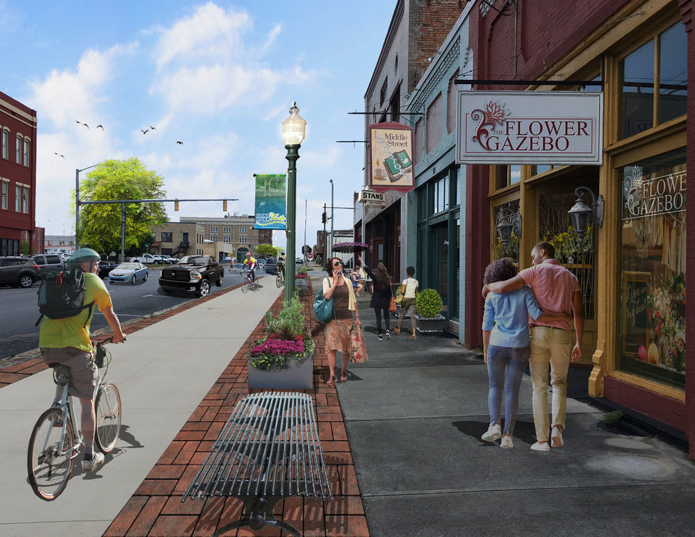 Proposed multi-use trail along Washington Street