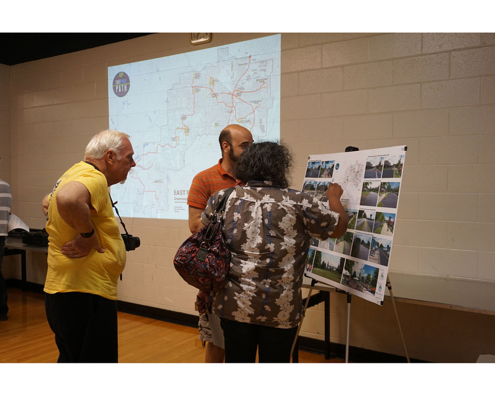 Attendees at Jefferson Recreation Center for  East Point PATH  public meeting