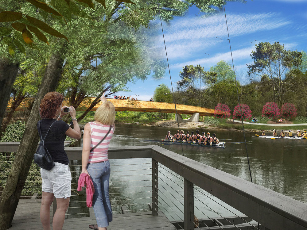 Proposed pedestrian bridge over Chattahoochee River, connecting to the Sliver Comet Trail