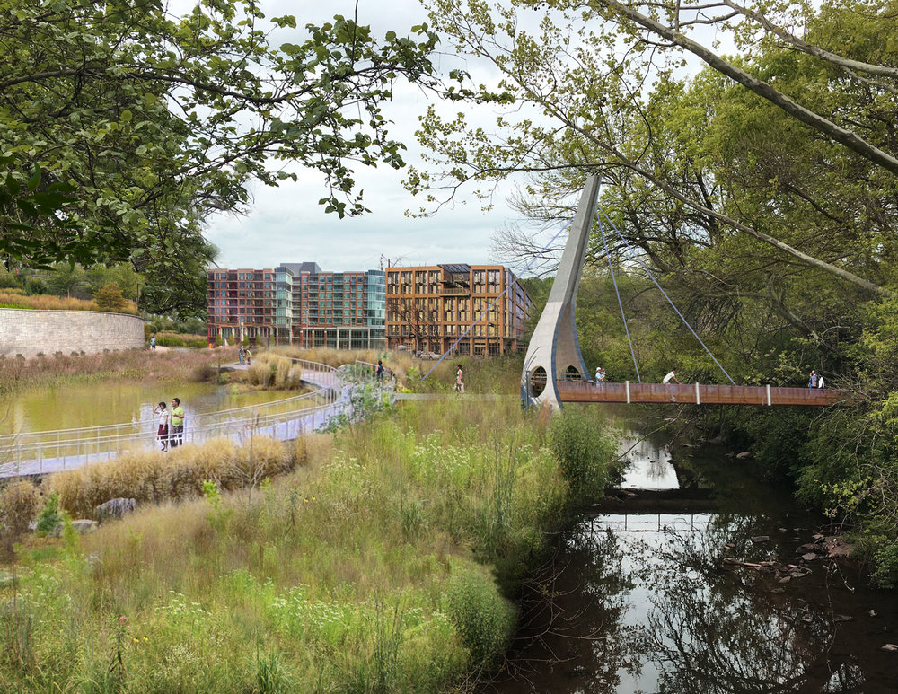 Proposed pedestrian bridge from Bankhead MARTA station crossing Proctor Creek