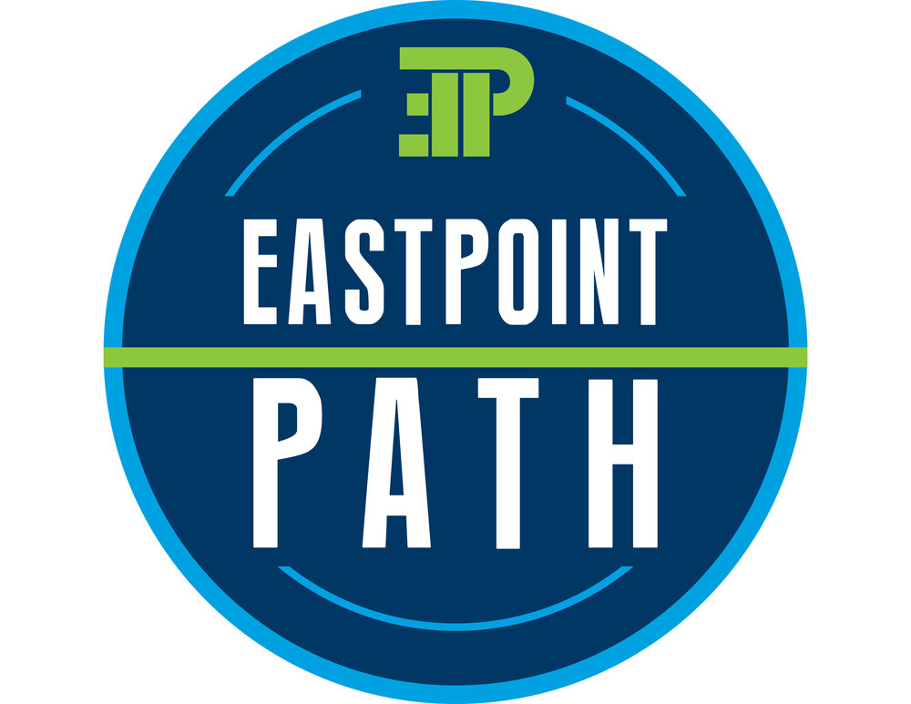 The preferred logo option for  East Point PATH