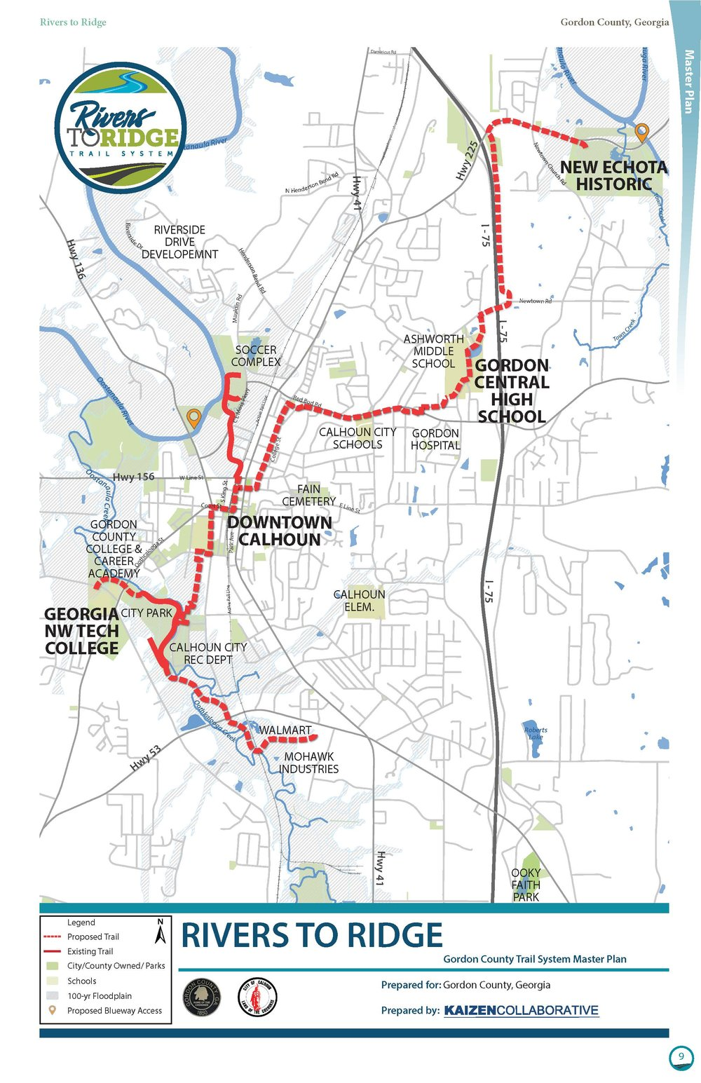 Proposed Overall Plan for the Rivers to Ridge Trail System