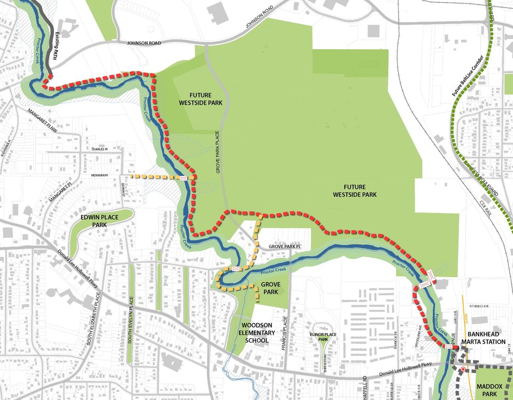 Phase I trail segment from Gray Avenue to Johnson Road