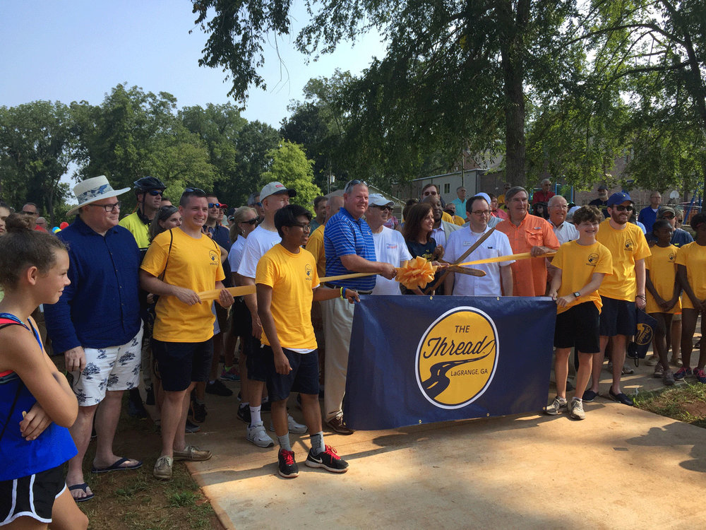 The city and Friends of Thread group celebrated the grand-opening of the first built trail segment - Granger Park Thread on July 24th, 2017.