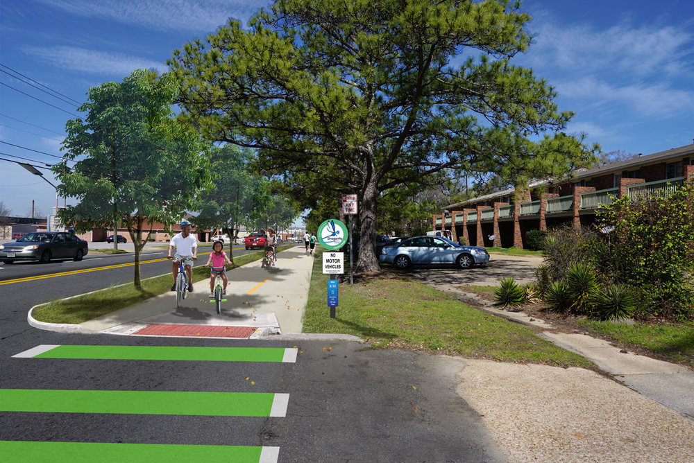 proposed side-path on MLK blvd (construction begins in Jan, 2018)