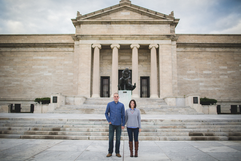 Cleveland Wedding photographer | Engagement at The Cleveland Museum of Art