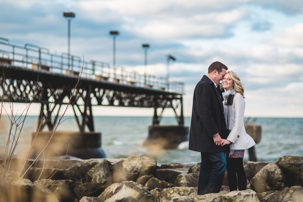 Cait + Matt | Engagement Photography at Edgewater park
