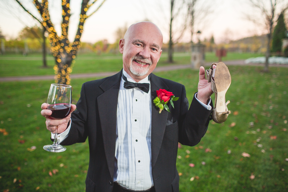 annette and tom wedding at gervasi winery in canton ohio