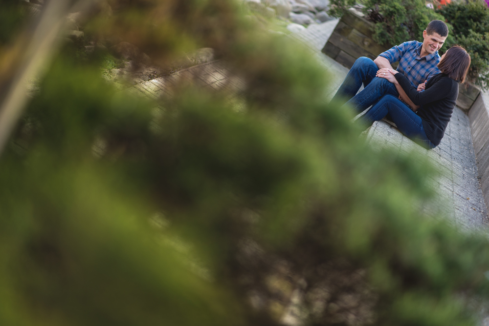 Samantha and James Engagement session in Chagrin Falls Ohio