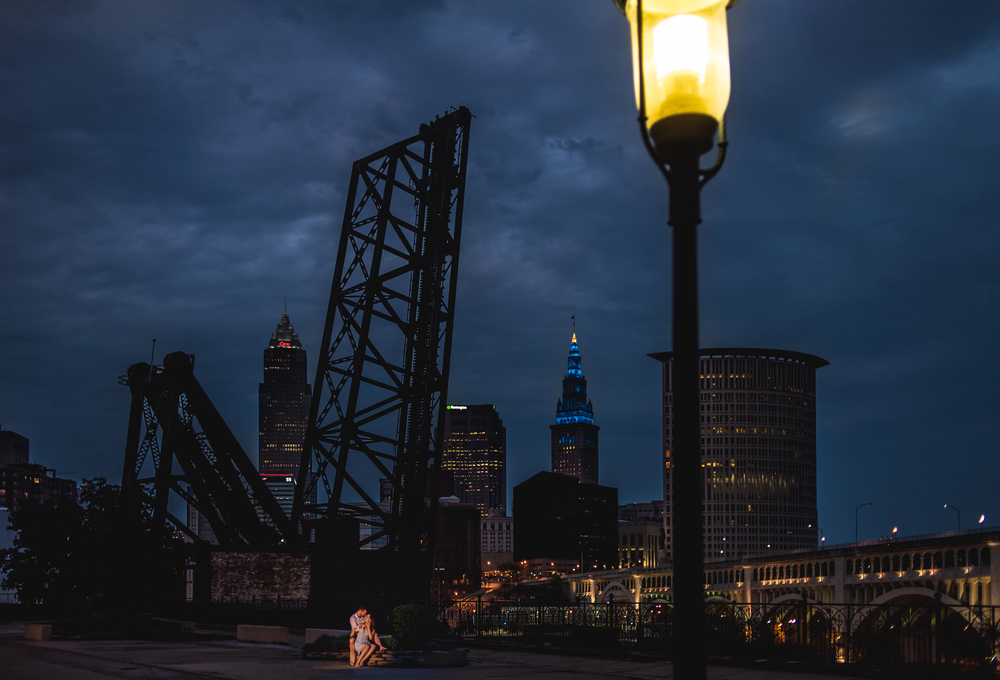 Rachel and Matt's engagement session in cleveland ohio // cleveland engagement photographer