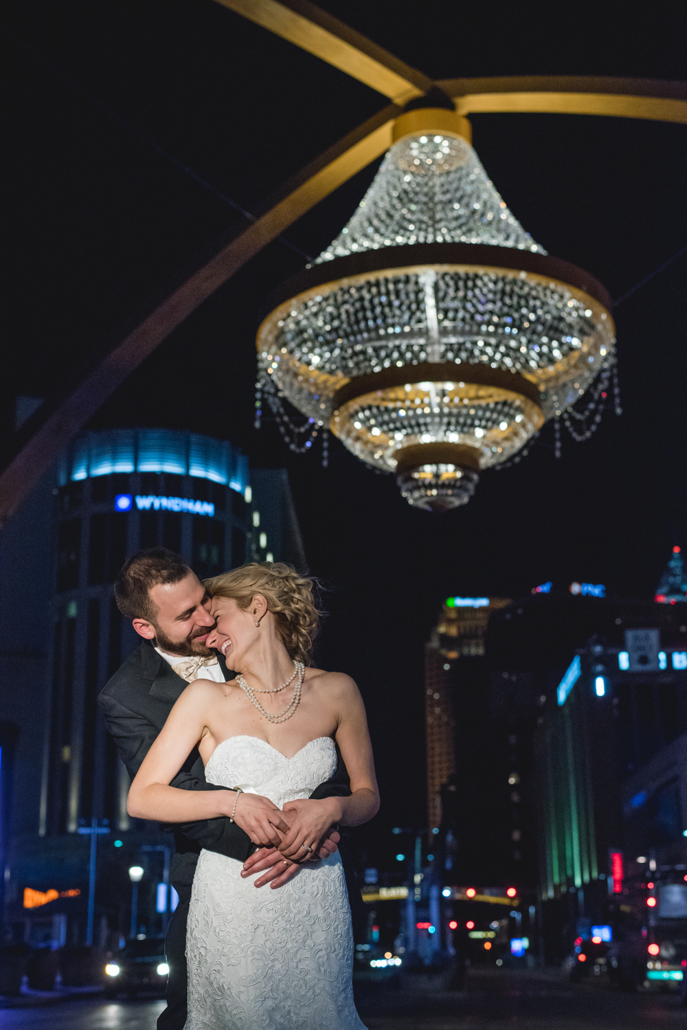 Wedding photography at playhouse square in Cleveland Ohio