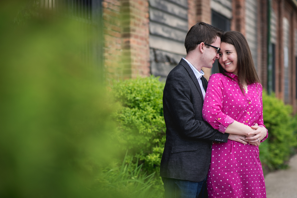 samantha and josh's engagement photography in cleveland ohio