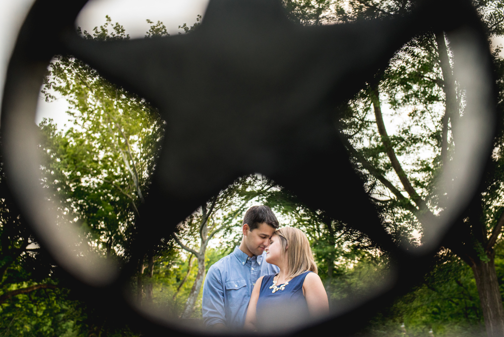 Stephanie and Rob's engagement at the cleveland cultural gardens
