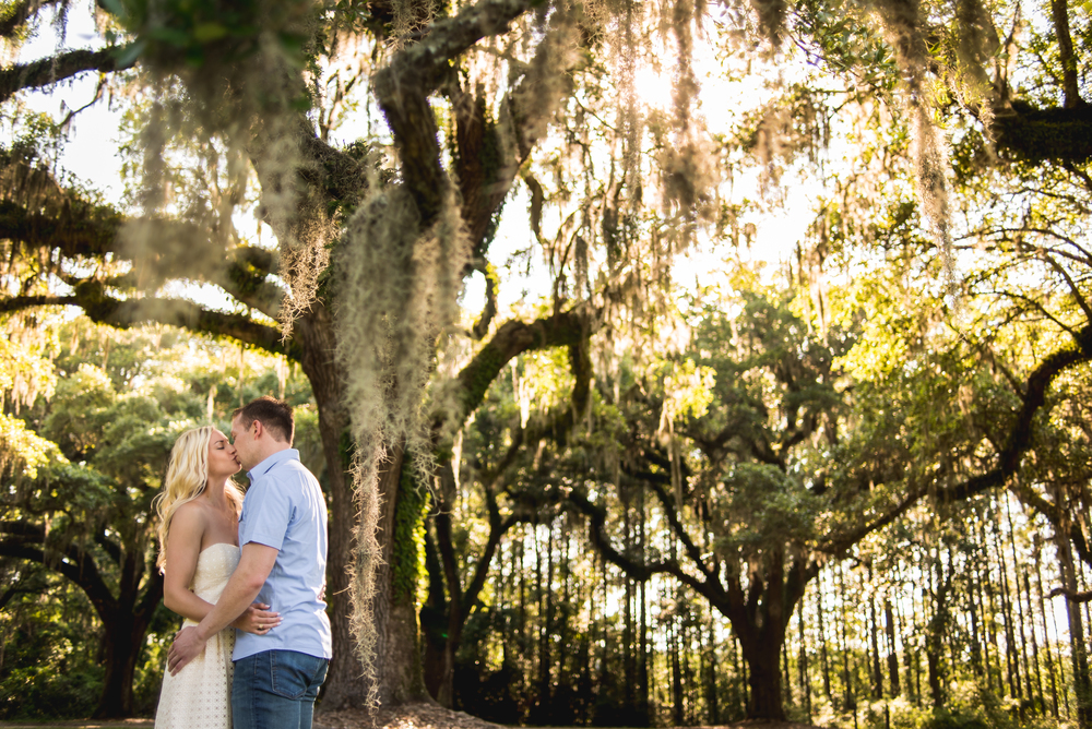 Andrea and Karl's Engagement session at boone plantation in charleston south carolina
