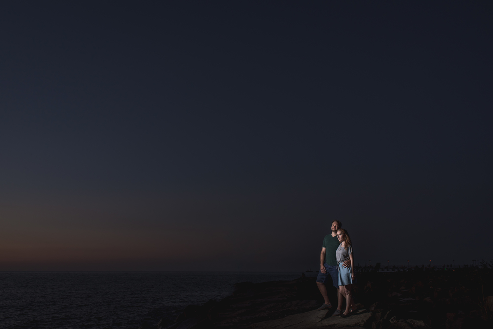 Erin and Alex's engagement session at stone mad and edgewater park cleveland