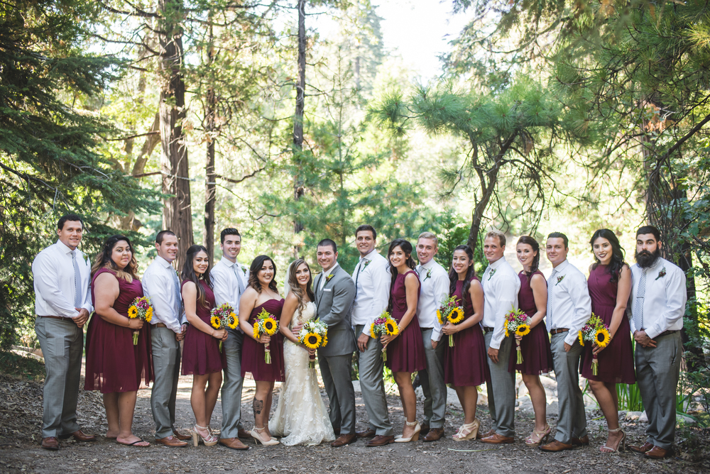 Samantha + Dustin's Wedding at Arrowhead Pine Rose Cabins in Twin Peaks California