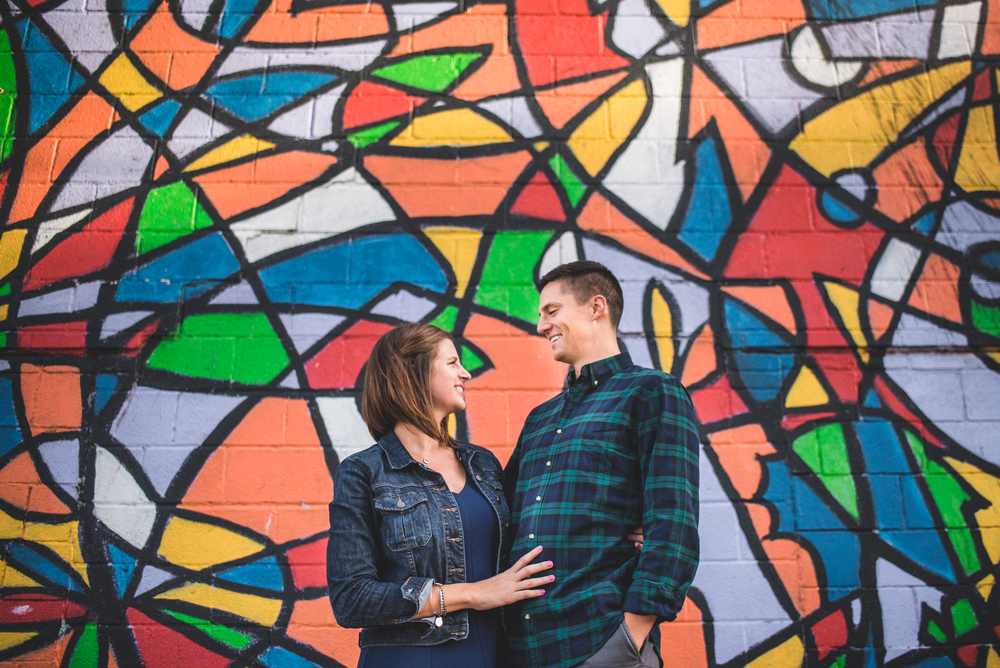 ohio city engagement session photos
