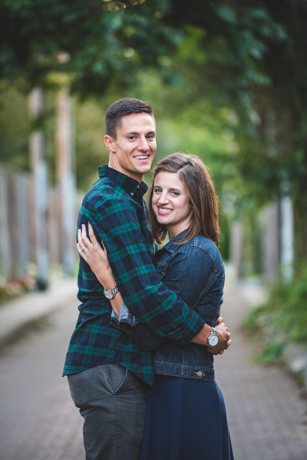 Ohio city engagement photos | Maggie and Eric