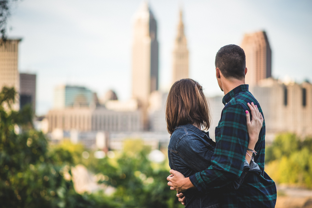 Cleveland Engagement photographer | Ohio City engagement session