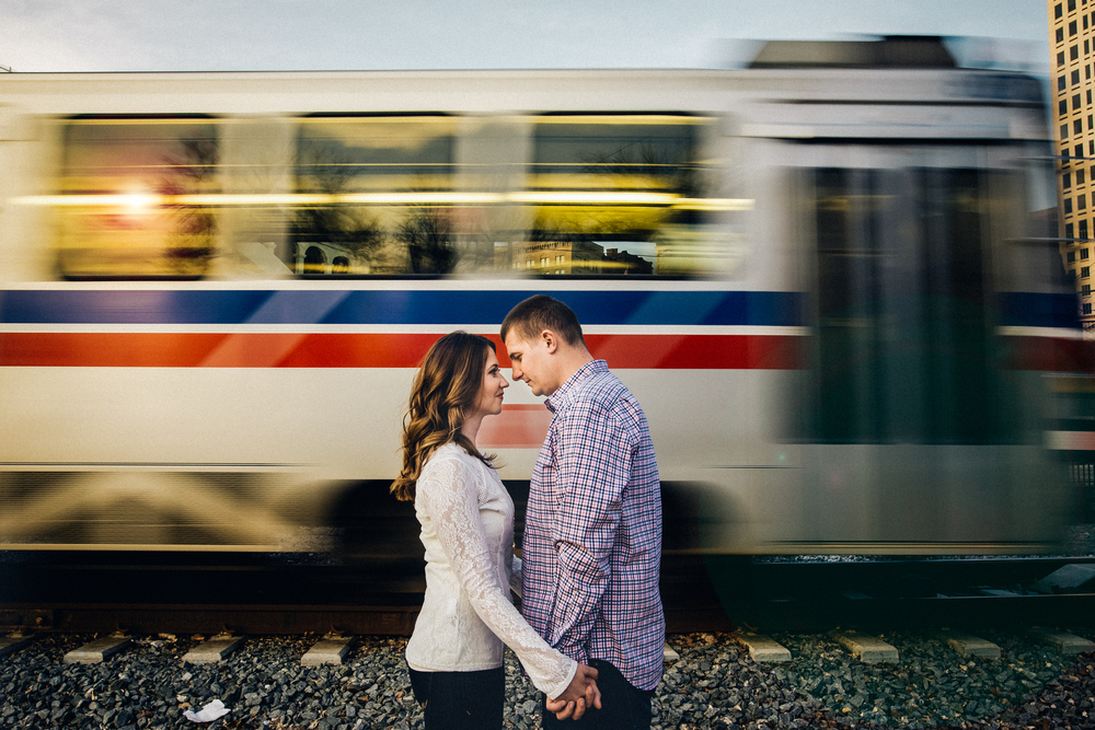 Cleveland Engagement session in The Flats East bank | Cleveland Wedding photographer Nick plus danee