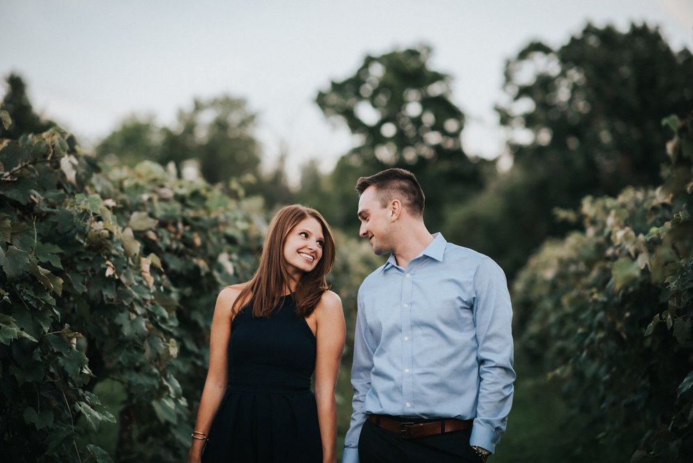 Engagement at Sarah's Vineyard in Cuyahoga Falls Ohio | Emily + Ethan