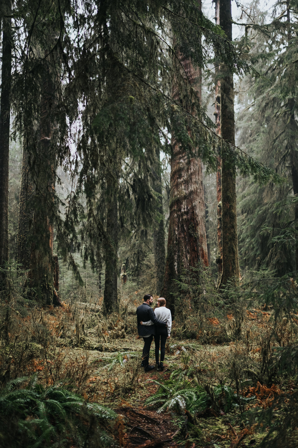 Engagement Session at the Hoh Rainforest in Washington | Katie + Matt