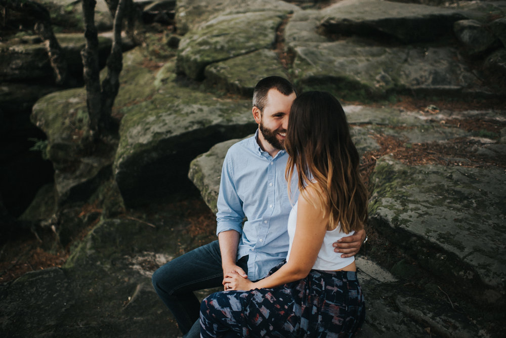 Blue Hen Falls Engagement photos | Laura and Ryan