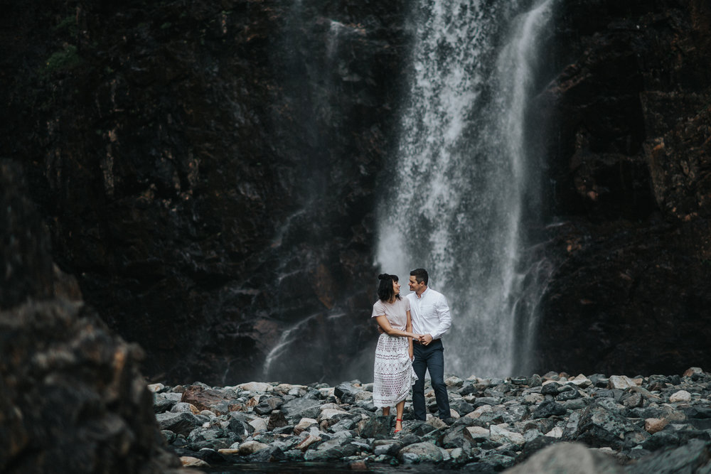 Engagement at Franklin Falls in Snoqualmie Pass, WA | Lauren & JC
