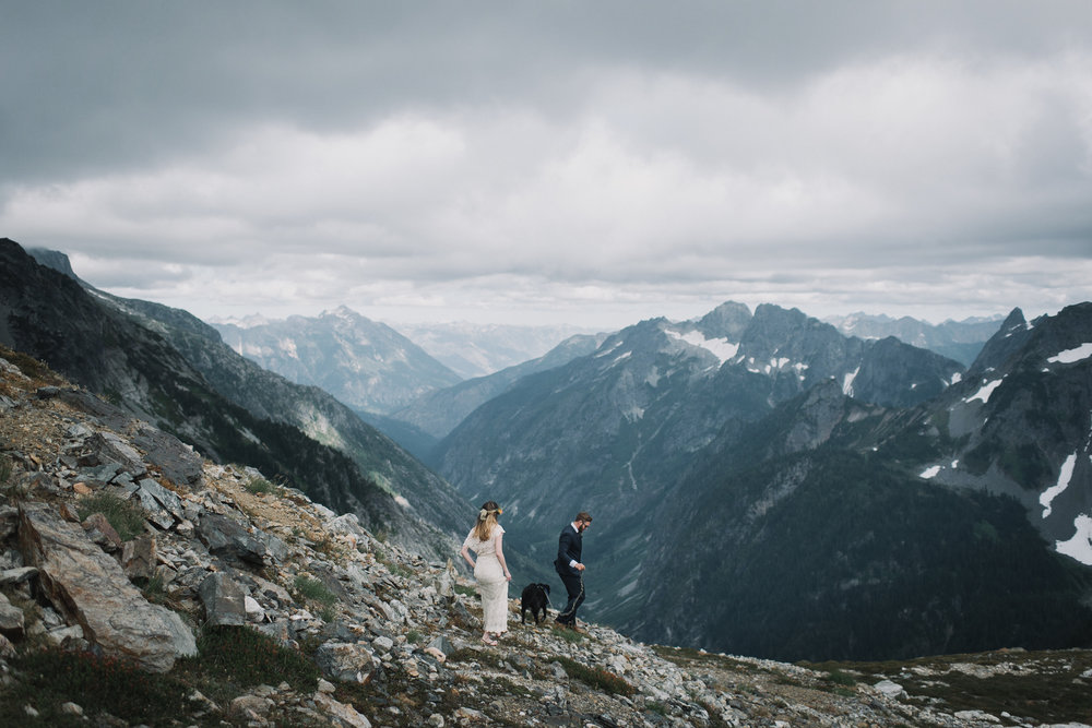 Sahale Arm Elopement In The North Cascades, Washington | Taylor & David
