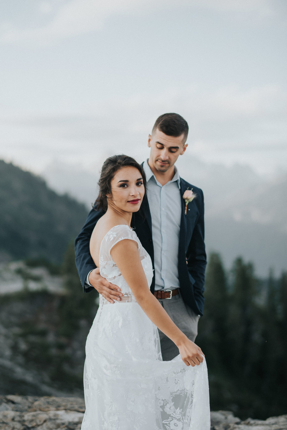 Styled Elopement at Artist Point, Mount Baker Washington | Alyssa & Ethan