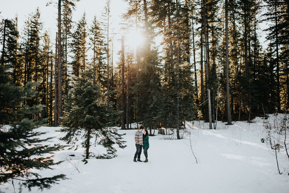 Engagement at Lake Wenatchee State Park WA | Megan & Nick