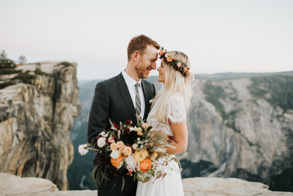 Sunrise Yosemite National Park Elopement at Taft Point