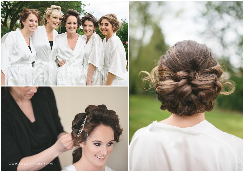 As you can tell I loved Sammi's hair! She's obviously a beautiful girl but was given a gorgeous soft and natural look by Clare at Harry Jon Hair and Makeup. Clare came to Sammi's family home in Poynton were all the girls were getting ready.