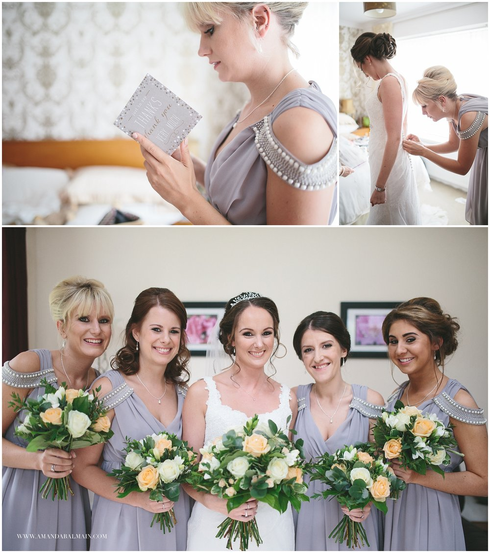 Sammi had four friends as bridesmaids who were brilliant fun. They looked after Sammi and made sure the whole day was a celebration from start to finish.