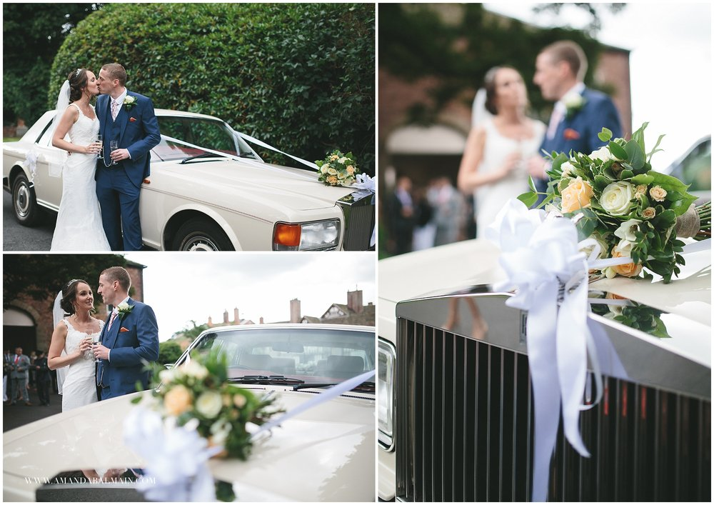 A family friend supplied a Rolls Royce so that Sammi could arrive in style too.