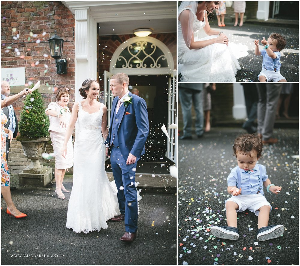 This little chap totally stole the show when it came to the confetti. Such a cutie!