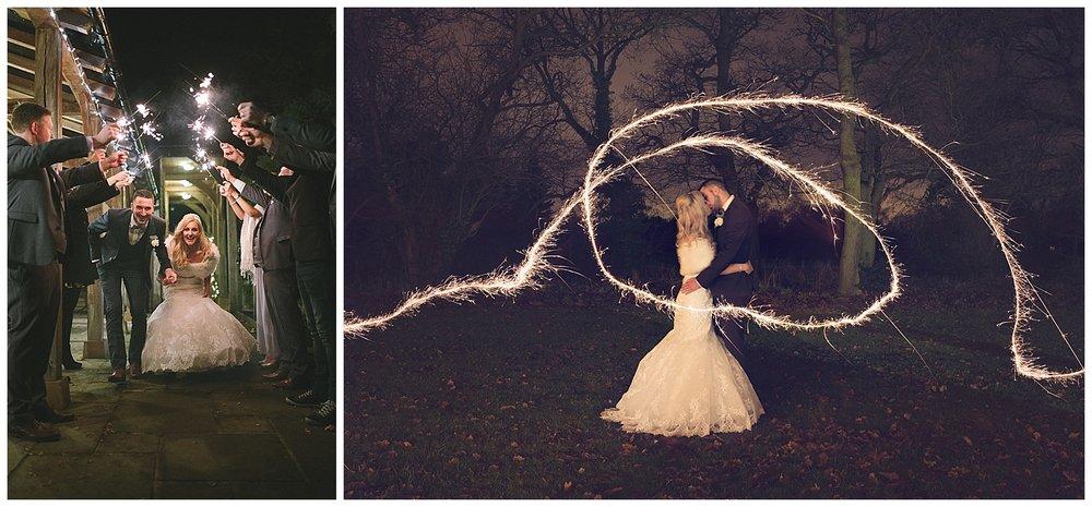 winter-wedding-sparklers