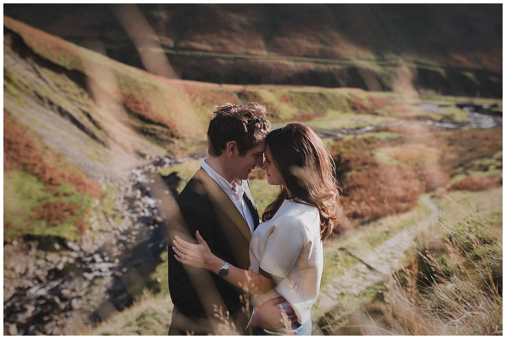 Wedding photography prices for wedding weekends and elopements. Couple pictured in the Scottish Highlands on the day after their wedding.