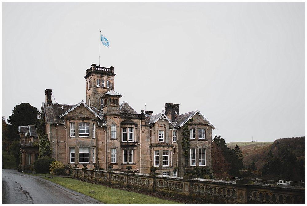 Auchen Castle wedding venue in Scotland.