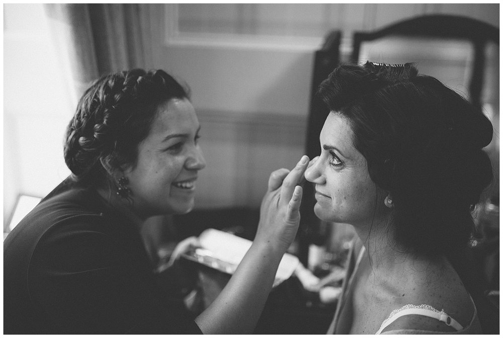 Hair and makeup for a Scotland wedding by Andrea Elsby