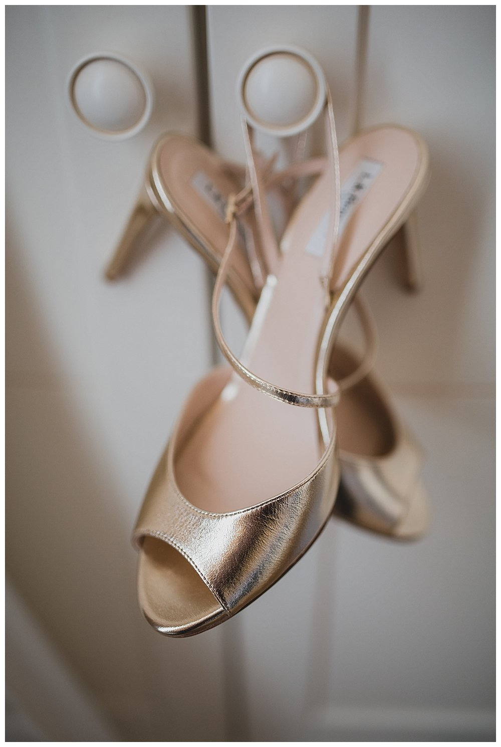 Gold LK Bennett sandals for a glamorous Liverpool Town Hall wedding.