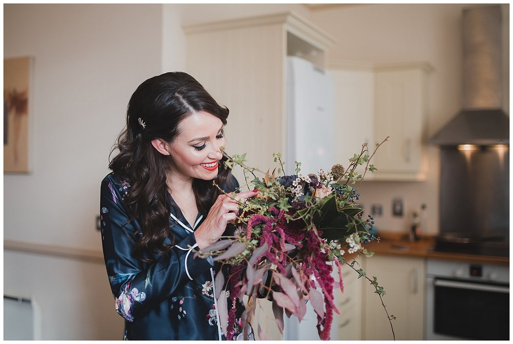 Jen was over the moon when her bouquet arrived ahead of her Liverpool town hall wedding.