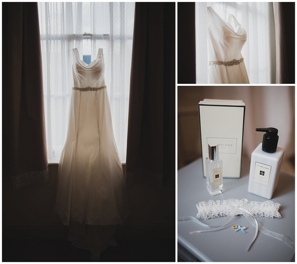 Jo Malone and a cowl neck dress for Liverpool wedding.