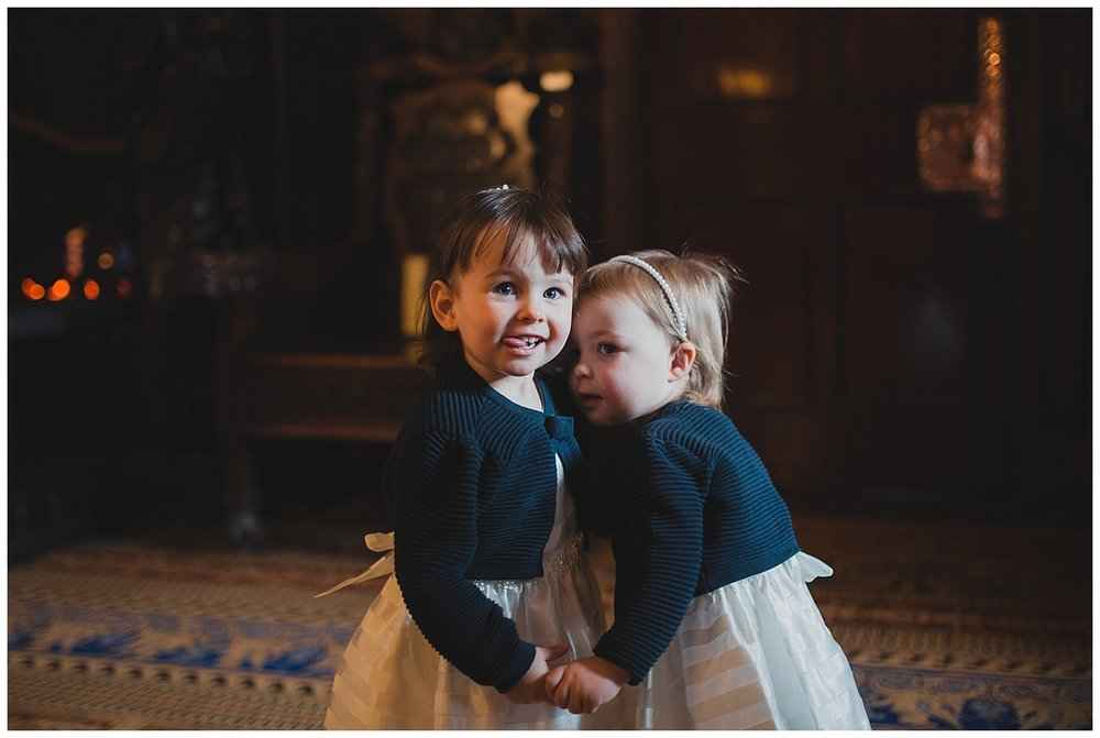 Flower girls at Liverpool Town Hall