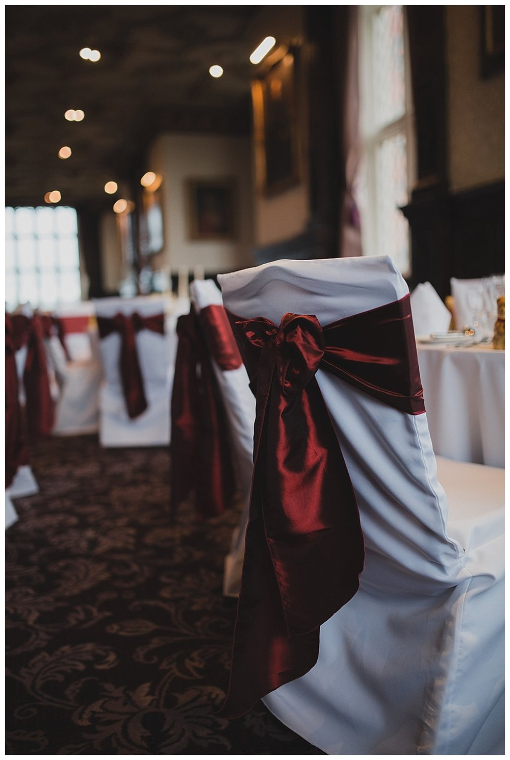 Touches of red for a Valentine themed wedding at Crewe Hall