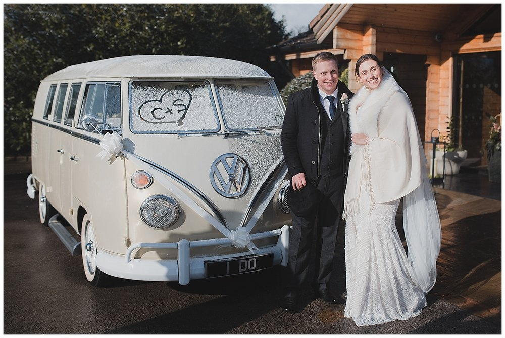 I Do Campers for a Cheshire winter wedding